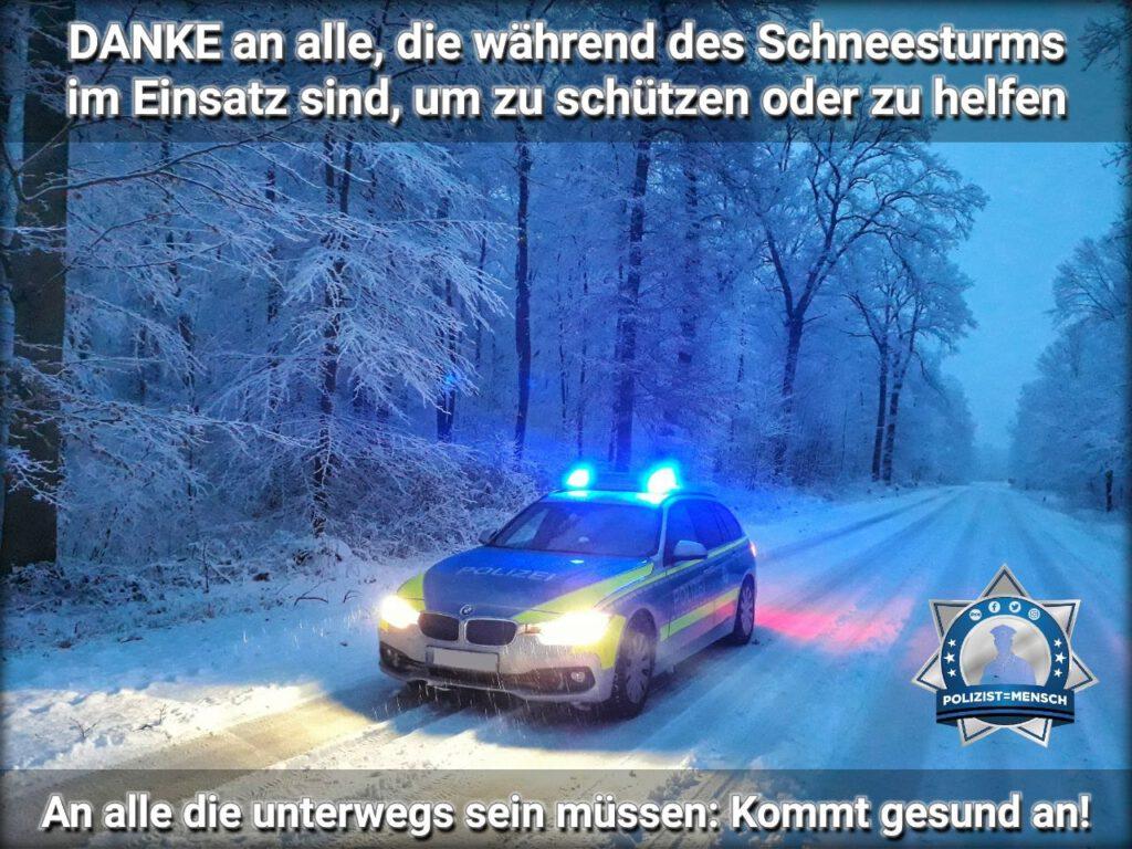 Der Schneesturm fegt über die Mitte und den Norden Deutschlands