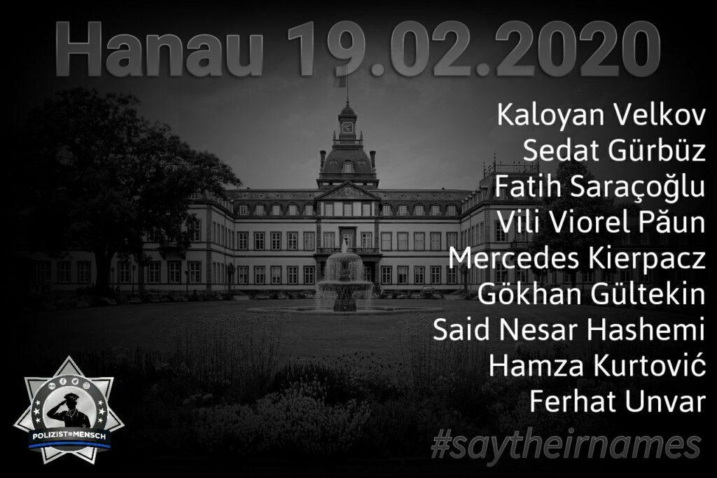 Wir gedenken heute, am ersten Jahrestag, der Opfer des rassistischen Anschlag von Hanau