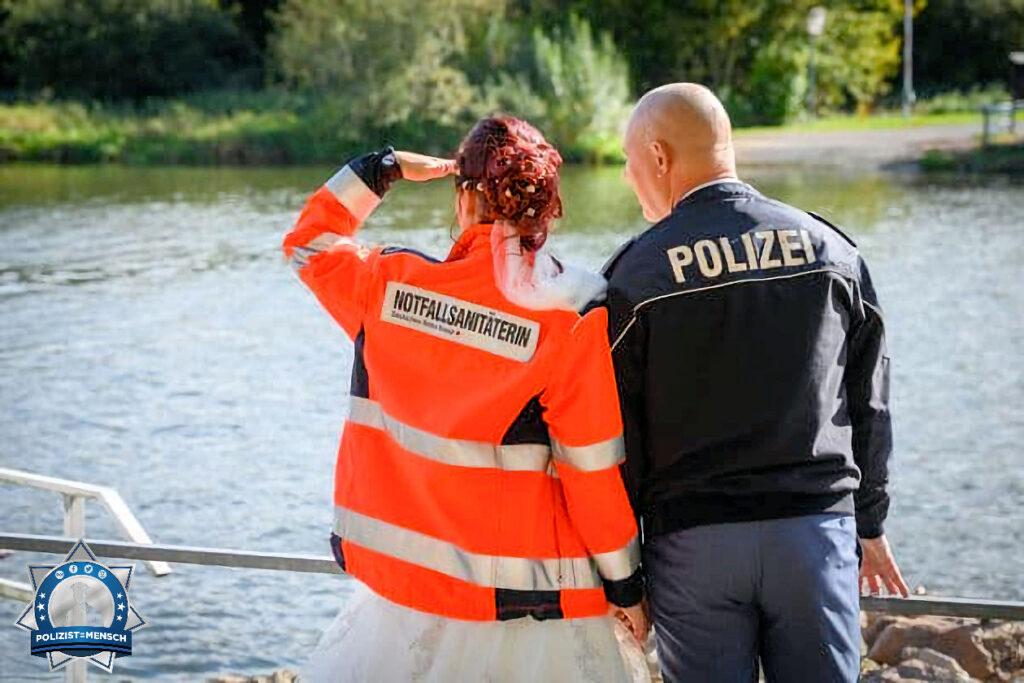 """""""Hallo liebes Polizist=Mensch Team. Wir haben uns vor über 5 Jahren im Dienst kennengelernt und sind mittlerweile sogar verheiratet ♥️ LG, L&J"""""""