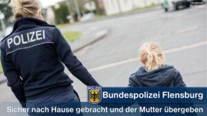 Alleine unterwegs: Bundespolizisten helfen siebenjährigem Mädchen