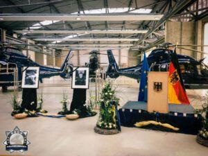 Im Gedenken an die Verstorbenen des Flugunglücks der Fliegerstaffel der Bundespolizei Fuhlendorf