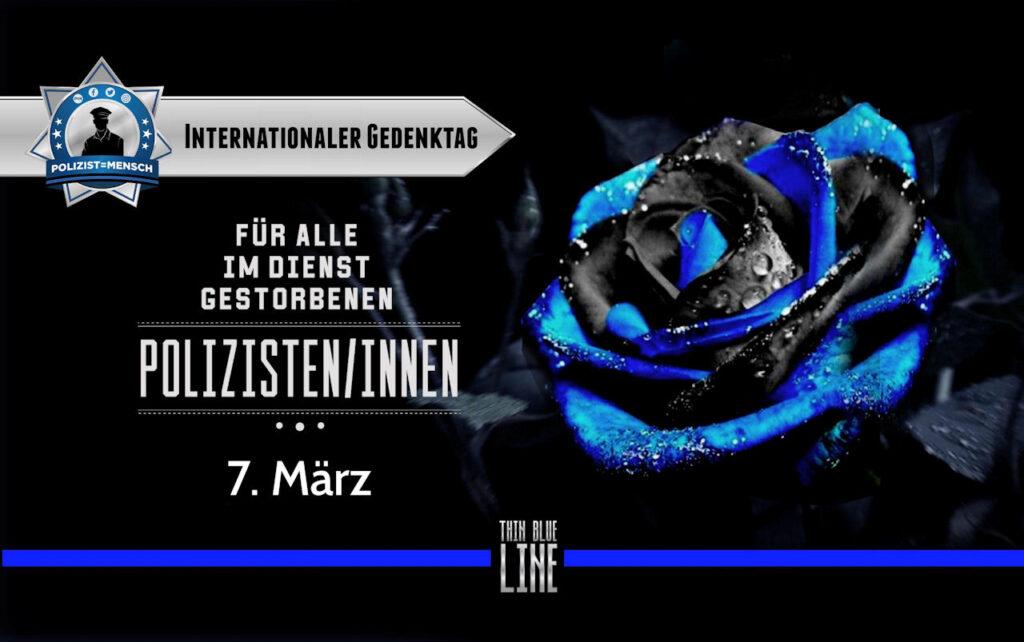 Internationaler Gedenktag für alle im Dienst gestorbenen Polizisten/innen am 7. März