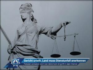 Polizist versetzt sich bei tätlichem Angriff in den Dienst: Gericht urteilt, Land muss Dienstunfall anerkennen