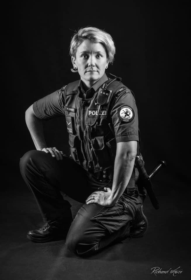 """Fotoshooting für das Projekt """"Ich - Polizist"""""""