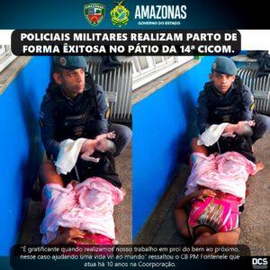 Polizisten werden zu Geburtshelfern