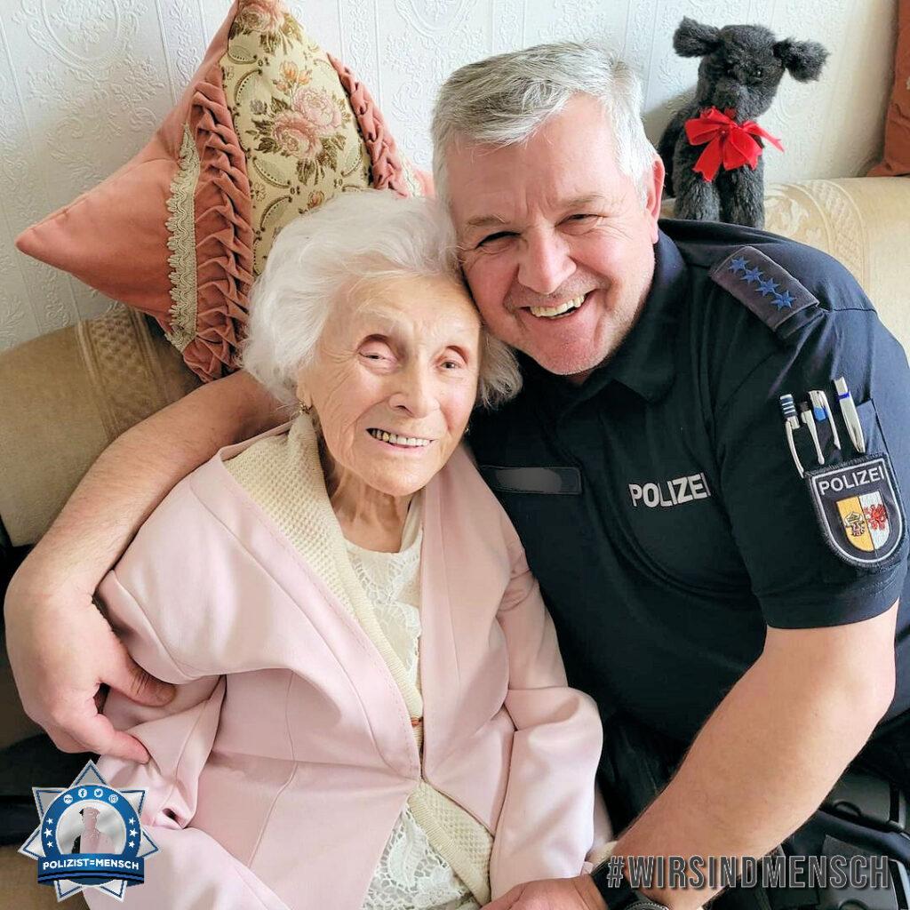 """95-jährige Polizistenoma: """"Passt auf Euch auf und kommt immer gesund nach Hause"""""""