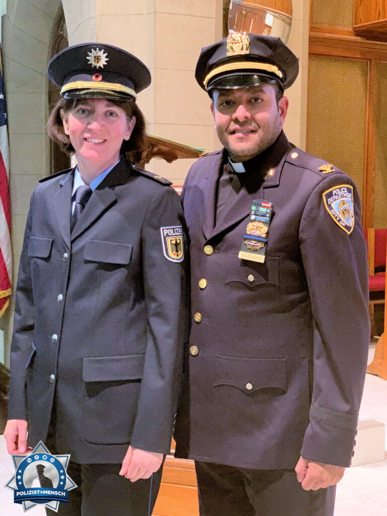 """""""Als Seelsorgerinnen und Seelsorger in der Polizei (ob NYPD, Bundespolizei oder Landespolizei) sind wir für euch da. Herzliche Grüße aus New York, Pfarrerin Miriam Groß"""""""