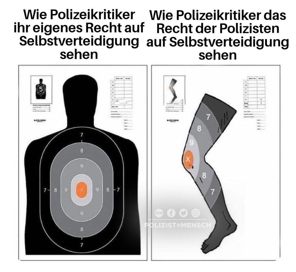 Man hätte dem laufenden Täter die Waffe gegen die Beine werfen können, anstatt auf ihn zu schießen...