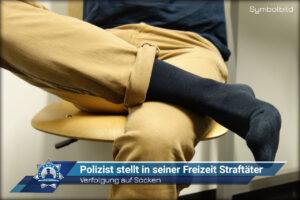 Verfolgung auf Socken: Polizist stellt in seiner Freizeit Straftäter