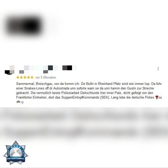 Perlen der Polizeibewertung: Das SuppenEintopfKommando