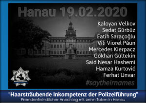 """Fremdenfeindlicher Anschlag mit zehn Toten in Hanau: """"Haarsträubende Inkompetenz der Polizeiführung"""""""