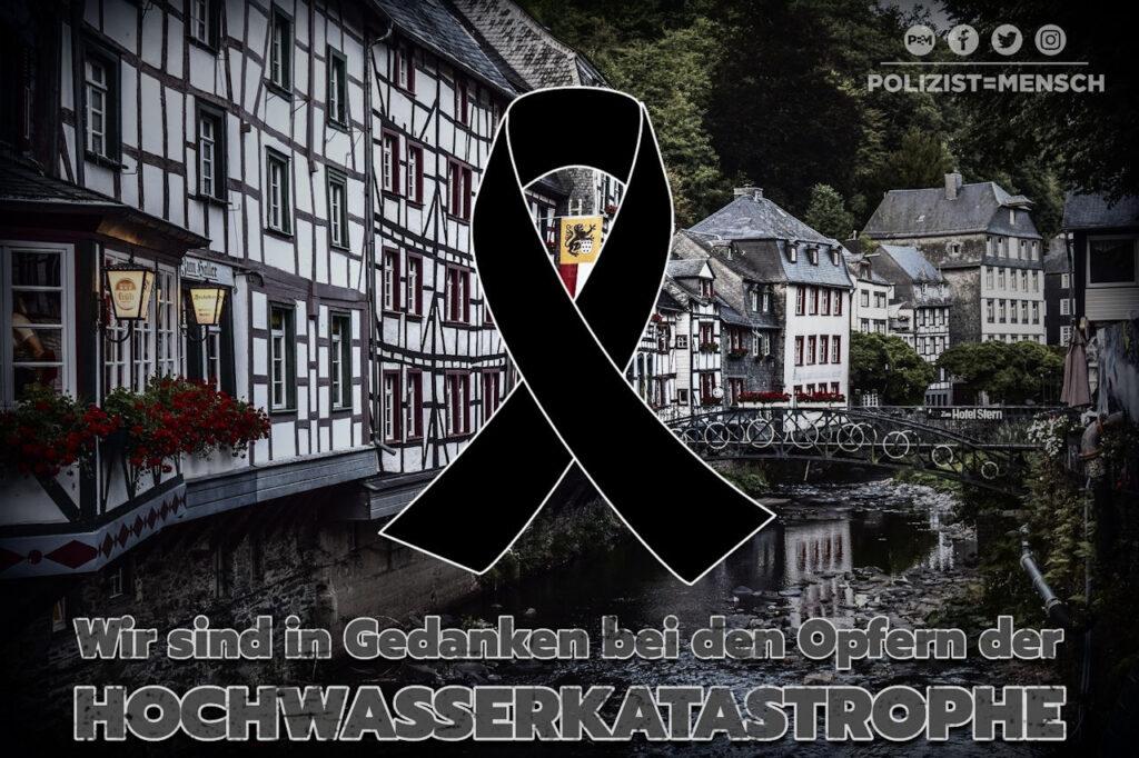 Wir gedenken der Opfer der Hochwasserkatastrophe. Wir sind in Gedanken bei den Angehörigen und bei denen, die ihr Hab und Gut verloren haben.