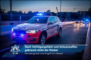 Fahrzeugraub und Angriff mit Messer: Nach Verfolgungsfahrt und Schusswaffengebrauch stirbt der Räuber
