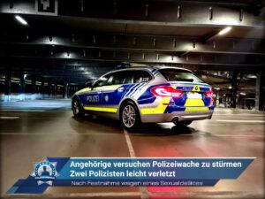 Nach Festnahme wegen eines Sexualdeliktes: Angehörige versuchen Polizeiwache zu stürmen - Zwei Polizisten leicht verletzt
