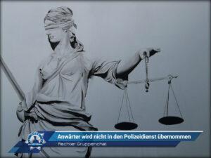 Rechter Gruppenchat: Anwärter wird nicht in den Polizeidienst übernommen