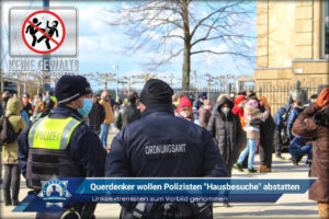 """Linksextremisten zum Vorbild genommen: Querdenker wollen Polizisten """"Hausbesuche"""" abstatten"""