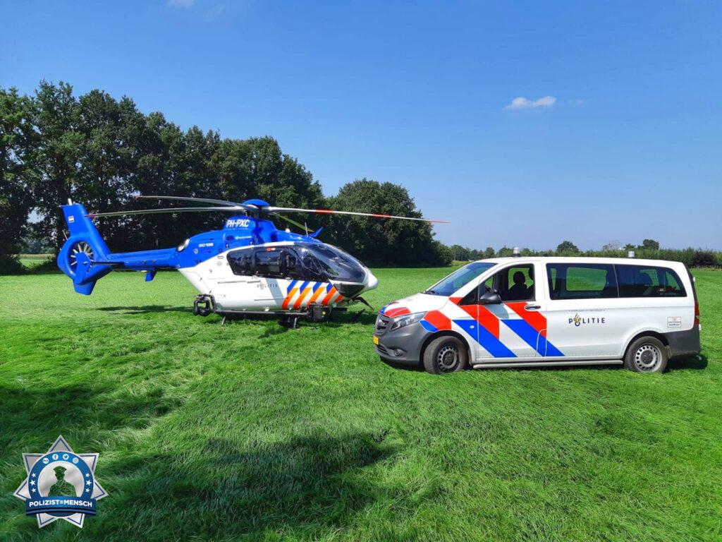 """""""Grüße von der Polizei Horst, Peel en Maas (Niederlande), und der Flugpolizei."""""""