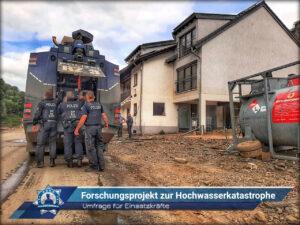 Umfrage für Einsatzkräfte: Forschungsprojekt zur Hochwasserkatastrophe